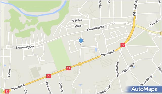 Starogard Gdański, Juranda ze Spychowa, mapa Starogard Gdański