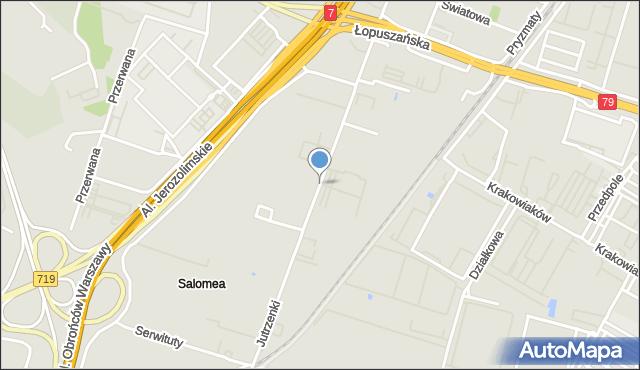 Warszawa, Jutrzenki, mapa Warszawy