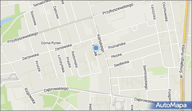 Łódź, Kaliska, mapa Łodzi