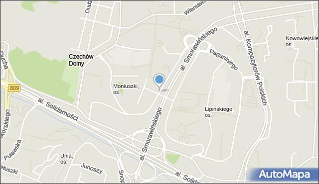 Lublin, Kiepury Jana, mapa Lublina