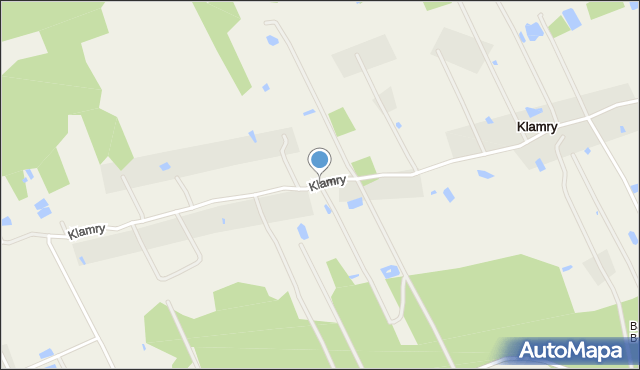 Klamry, Klamry, mapa Klamry