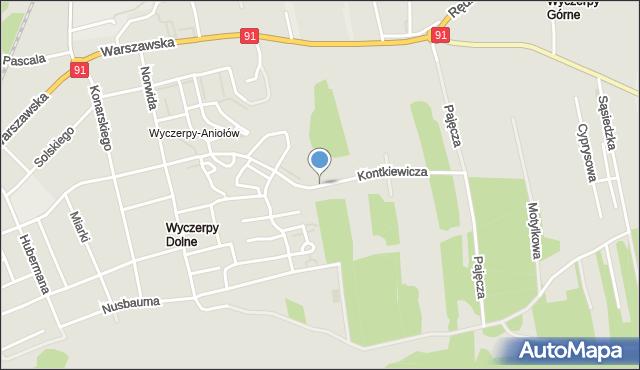 Częstochowa, Kontkiewicza, mapa Częstochowy