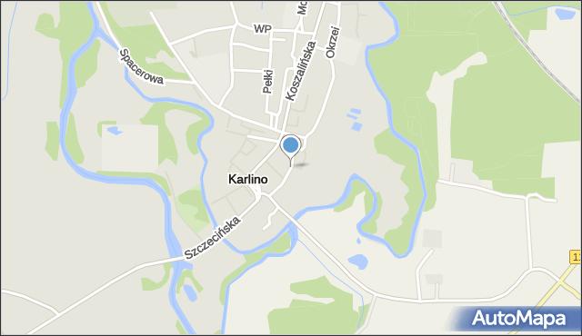 Karlino, Konopnickiej Marii, mapa Karlino