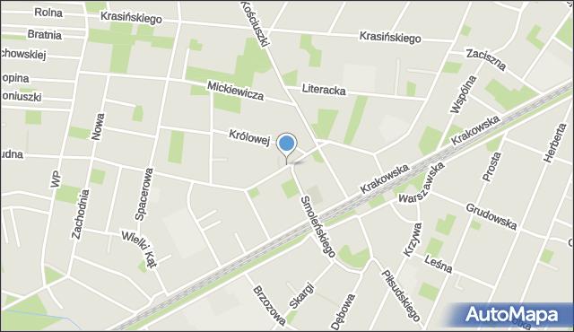 Milanówek, Kościelna, mapa Milanówek
