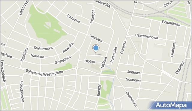 Poznań, Korzenna, mapa Poznania