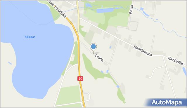 Kikół, Leśna, mapa Kikół