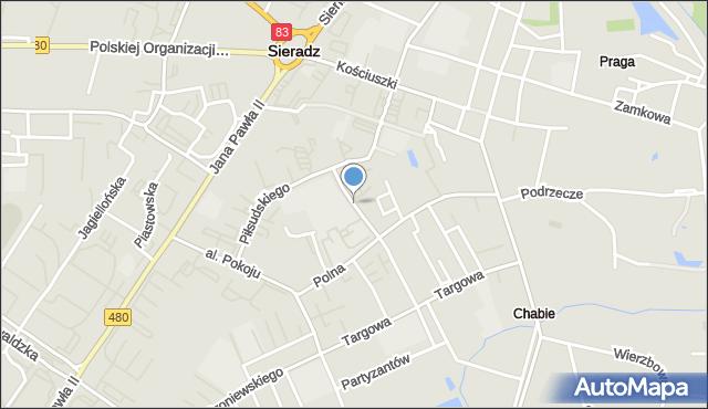 Sieradz, Leszka Czarnego, mapa Sieradz