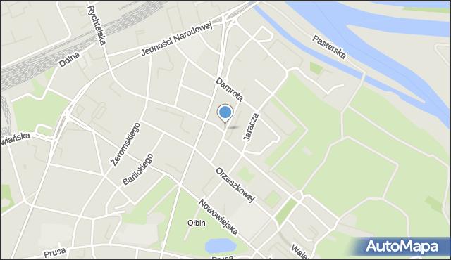 Wrocław, Lompy Józefa, mapa Wrocławia