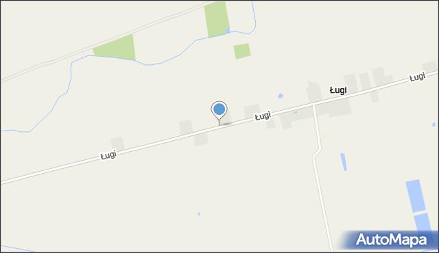 Ługi, Ługi, mapa Ługi