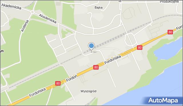 Bydgoszcz, Magazynowa, mapa Bydgoszczy