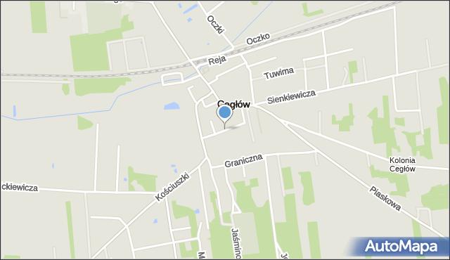 Cegłów, Mariawicka, mapa Cegłów