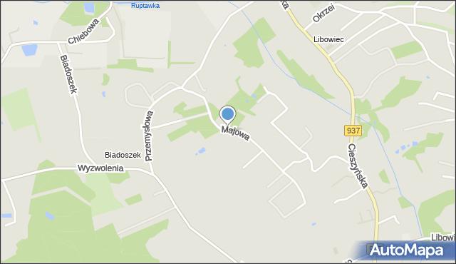 Jastrzębie-Zdrój, Majowa, mapa Jastrzębie-Zdrój
