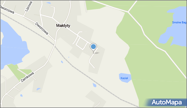 Małdyty, Małdyty, mapa Małdyty