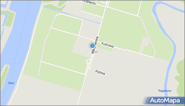 Szczecin, Marynarska, mapa Szczecina