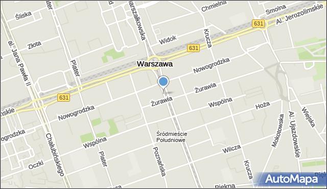 Warszawa, Marszałkowska, mapa Warszawy
