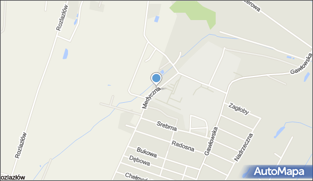 Sochaczew, Medyczna, mapa Sochaczew