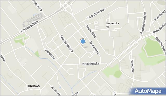 Poznań, Międzyborska, mapa Poznania