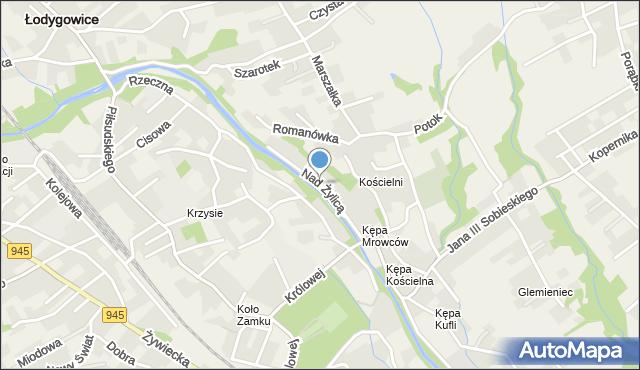 Bierna, Nad Żylicą, mapa Bierna