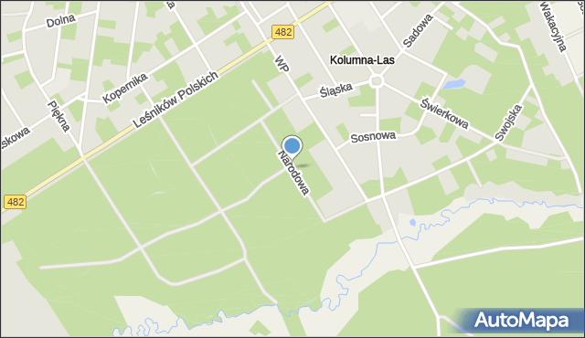 Łask, Narodowa, mapa Łask