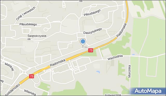 Kielce, Nowaka-Jeziorańskiego Jana, mapa Kielc