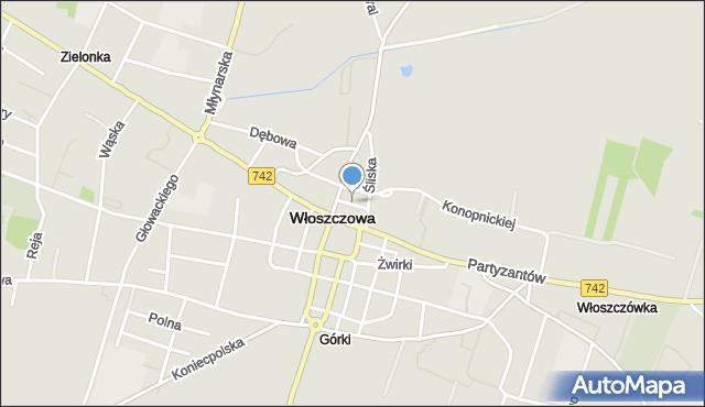 Włoszczowa, Nowa, mapa Włoszczowa
