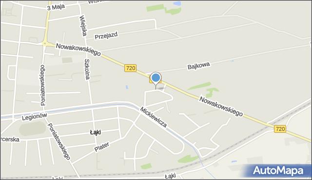 Błonie, Okrężna, mapa Błonie