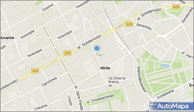 Warszawa, Orla, mapa Warszawy
