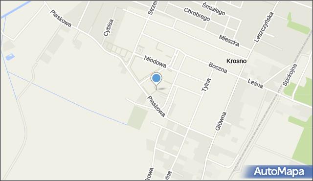Krosno gmina Mosina, Osiedle Olszynka, mapa Krosno gmina Mosina