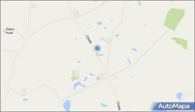 Osiek, Osiek, mapa Osiek