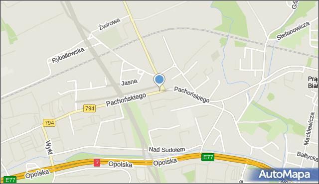 Kraków, Pachońskiego Henryka, mapa Krakowa