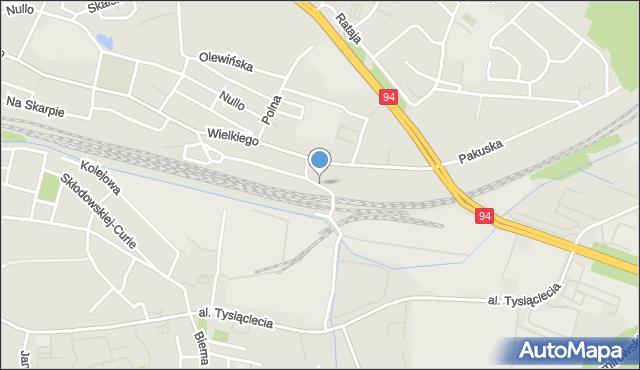 Olkusz, Partyzantów, mapa Olkusz
