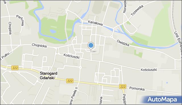 Starogard Gdański, Paderewskiego Ignacego Jana, mapa Starogard Gdański