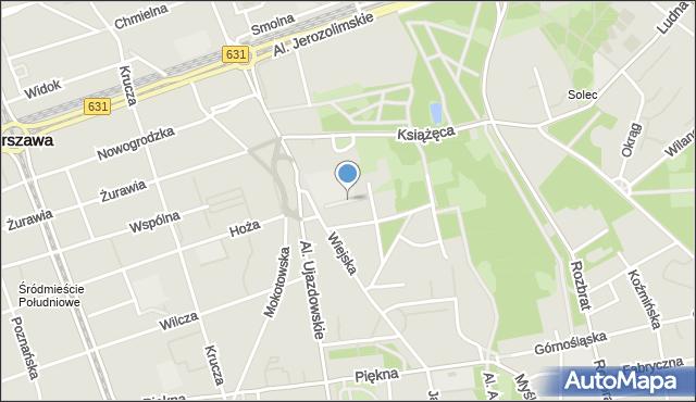 Warszawa, Pasaż Tyrmanda Leopolda, mapa Warszawy