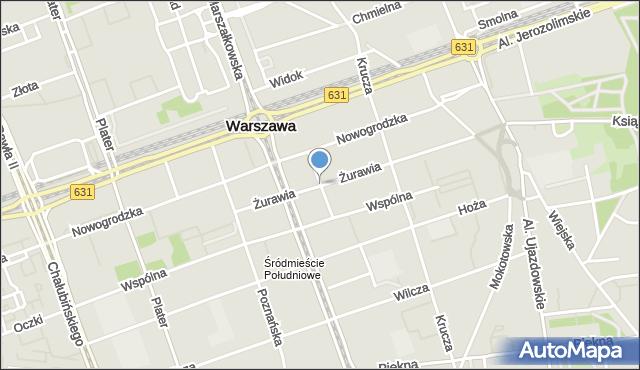 Warszawa, Parkingowa, mapa Warszawy