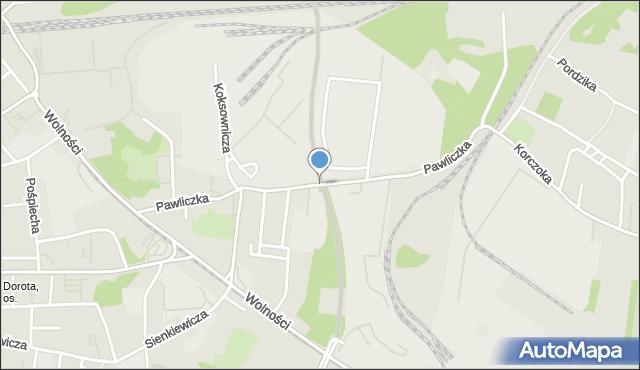 Zabrze, Pawliczka Alojzego, mapa Zabrza