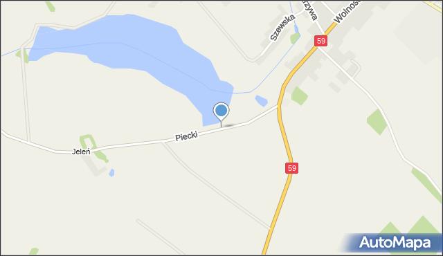 Piecki, Piecki, mapa Piecki