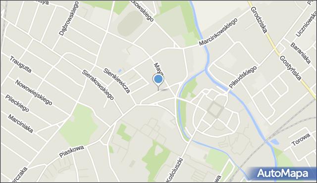 Kościan, Plac Wolności, mapa Kościan