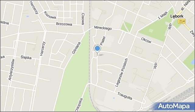 Lębork, Plater Emilii, mapa Lębork