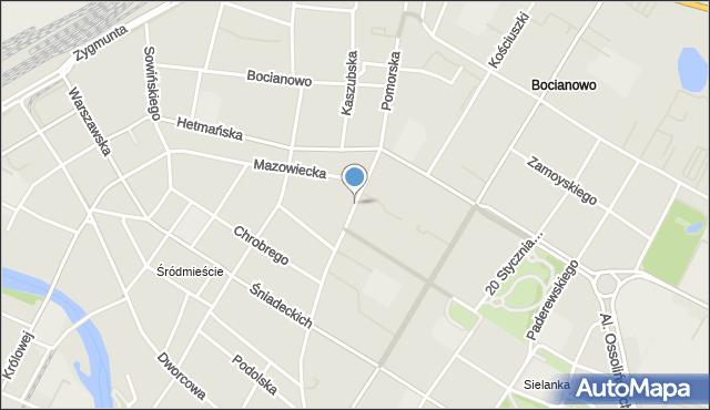 Bydgoszcz, Pomorska, mapa Bydgoszczy