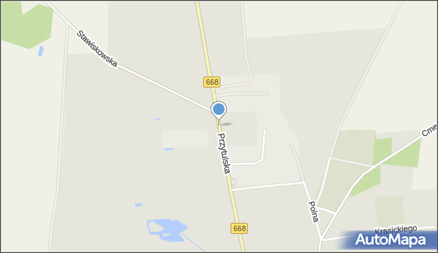 Jedwabne, Przytulska, mapa Jedwabne