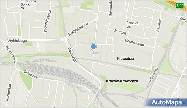 Kraków, Prądnicka, mapa Krakowa