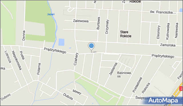 Łódź, Prądzyńskiego Ignacego, gen., mapa Łodzi
