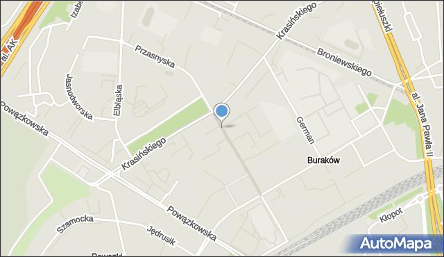Warszawa, Przasnyska, mapa Warszawy