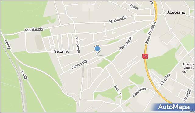 Jaworzno, Pszczelnik, mapa Jaworzno