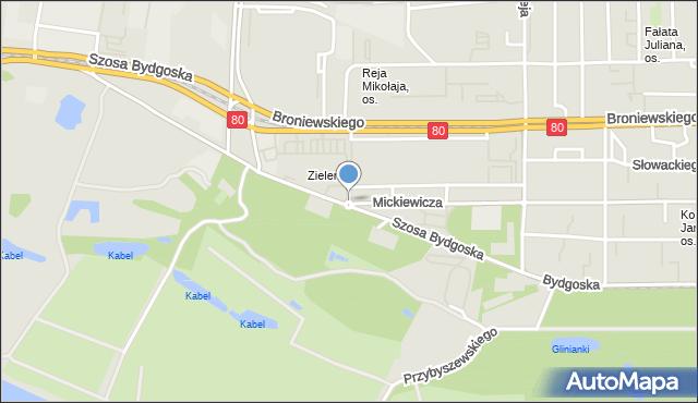 Toruń, Rondo Polaków Poszkodowanych Przez Rzeszę Niemiecką, mapa Torunia
