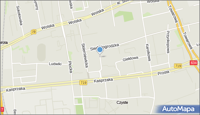 Warszawa, Rogalińska, mapa Warszawy
