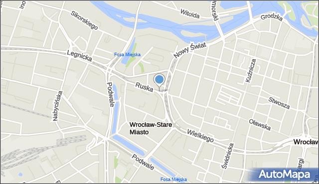 Wrocław, Ruska, mapa Wrocławia