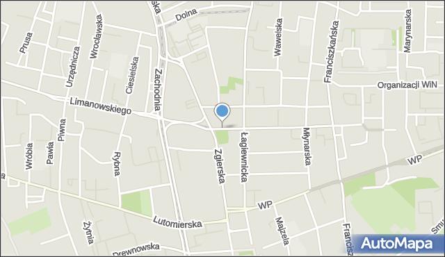 Łódź, Rynek Bałucki, mapa Łodzi