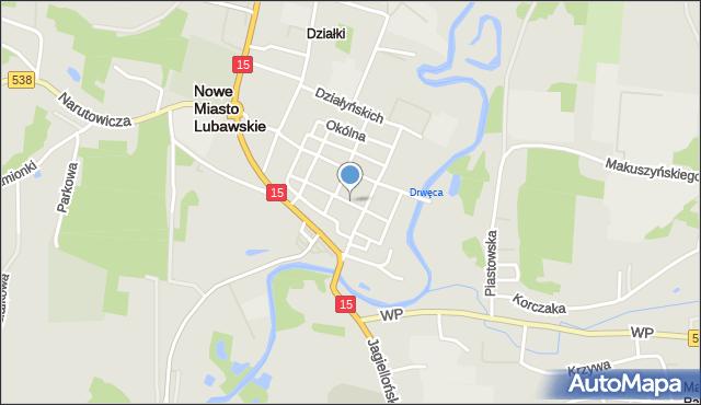 Nowe Miasto Lubawskie, Rynek, mapa Nowe Miasto Lubawskie