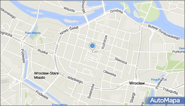 Wrocław, Rynek Ratusz, mapa Wrocławia